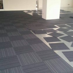 Installation of carpets tiles in DIP office dubai and abu dhabi
