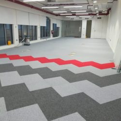new look of carpets tiles in dubai for office